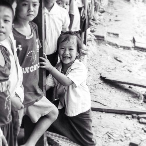 The Portraitist - 2017 EyeEm Awards Childhood Volunteering Laos Happy Happiness Positivity Positive Vibes Laughing Laugh I introduce to you: Meuj-Euj, the girl with the never-ending smile Connected By Travel