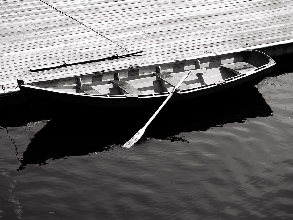 Dock. Mohonk Mountain House Boat Rowboat Oars Water Lake Lakemohonk EyeEm Best Shots - Nature EyeEm Best Shots - Black + White Blackandwhite Black And White Photography