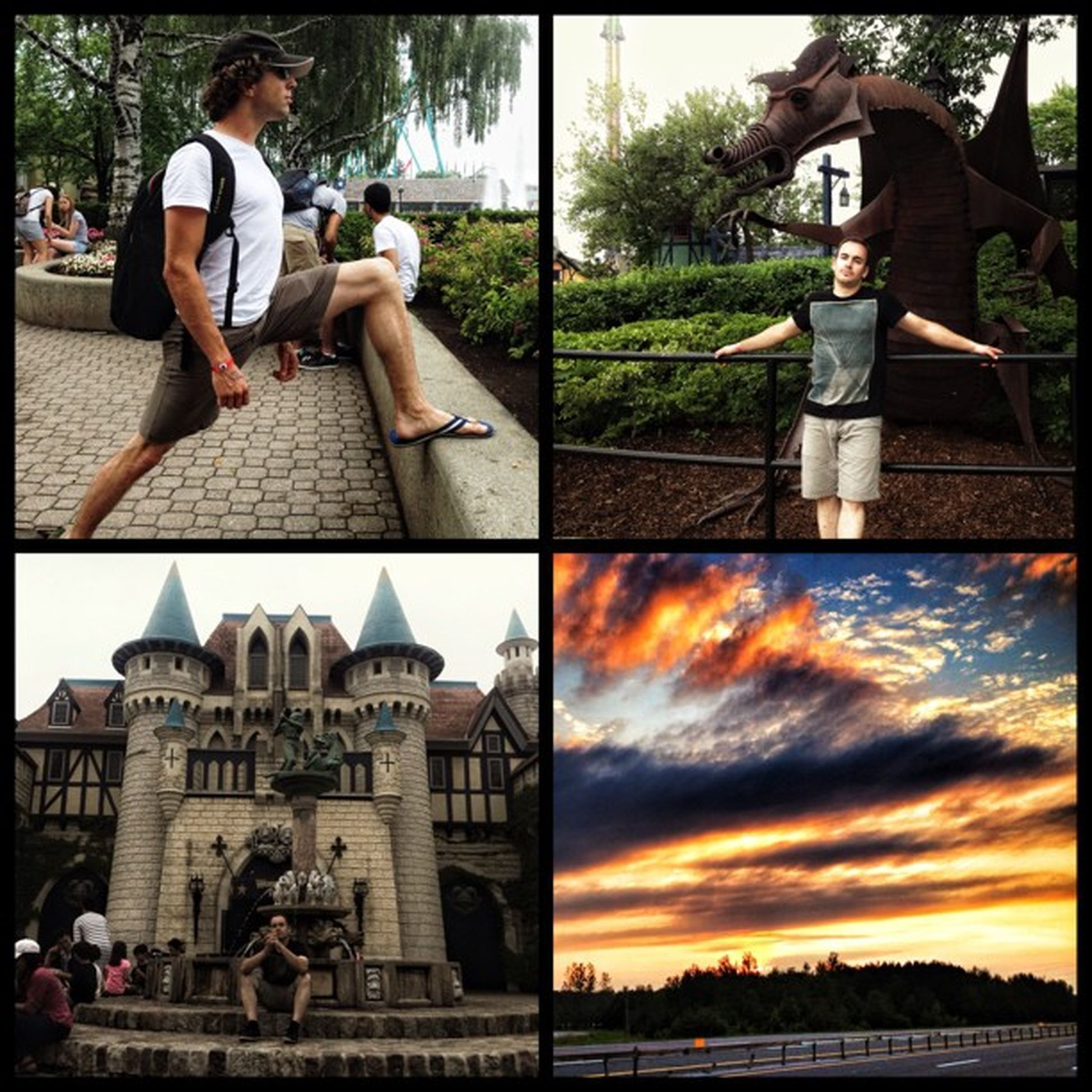 What a magical day! :) Canadaswonderland Rollercoasters Wonderjam June222013 2013 toronto sky sunset castle dragon smaug @thepernz