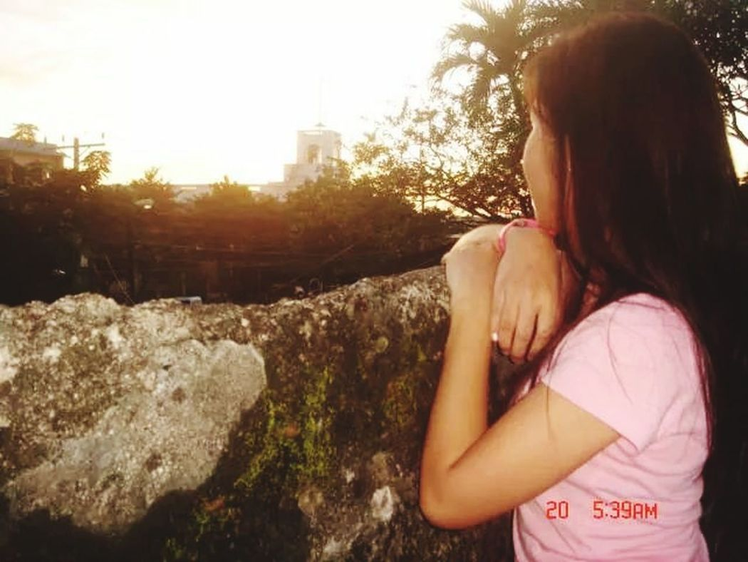 Portrait Of A Friend Fort San Pedro Sunset Cebu Philippines I Love Taking Pictures <3 :)