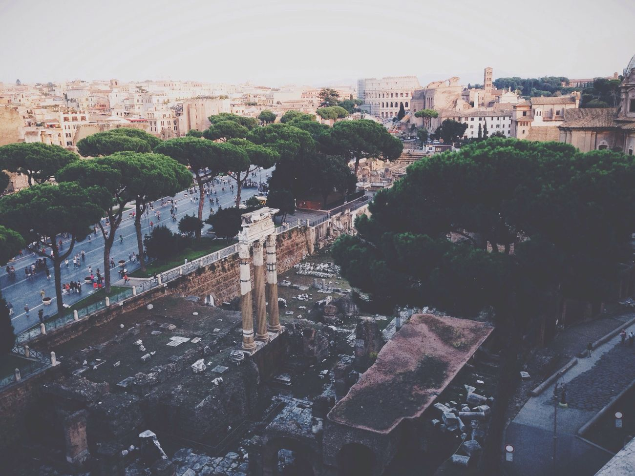 Fall in Rome is simply magic. Fall Colosseum Panorama Forum
