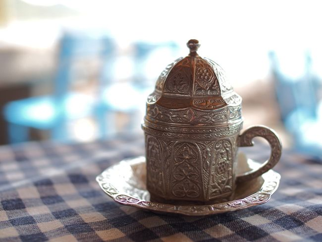 Still Life Close-up Metal Focus On Foreground Selective Focus Man Made Object No People Souvenir Antiquities History Turkish Coffee Turkish Delight Shallow Depth Of Field