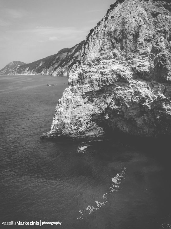 Blackandwhite Cliff Exploring Greece Leukada Location Majestic Mvphotography Nature Porto_Katsiki Rock Rock Formation Sea Summer Voyage Wave