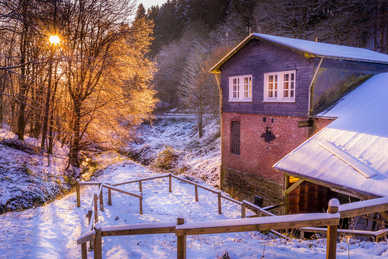 Architecture Bare Tree Beauty In Nature Branch Building Exterior Built Structure Cold Temperature Day House Landscape Landscape_Collection Landscape_photography Manuelskotten Nature No People Outdoors Rural Scene Scenics Snow Snowing Tree Weather Winter Wood - Material Wuppertal