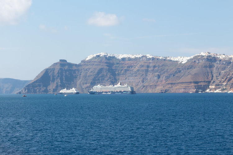 Santorini Beauty In Nature Day Iceberg Mountain Nature No People Outdoors Santorini Scenics Sea Sky Tranquil Scene Tranquility Water Waterfront