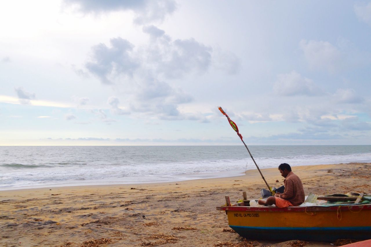 Being A Beach Bum Periyambalam Beach Beach Photography Enjoying The Sun Sea And Sky Fisherman Net Repairing Boat