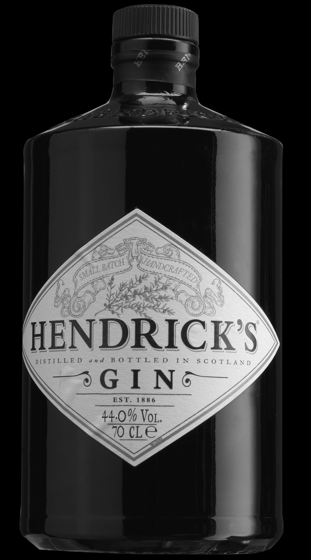 Gin Tonic Drink Label Studio Shot Alcohol Black Background No People Studiophotography Hendricks
