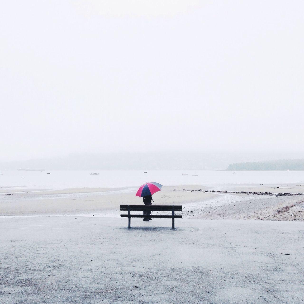 Beautiful stock photos of umbrella, Beach, Beachside, Bench, Clear Sky