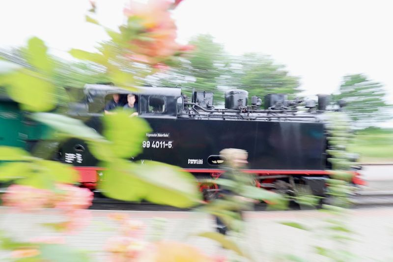 Blurred Motion Day Focus On Background Locomotive Motion Outdoors Rasender Roland  Selective Focus Speed Steam Locomotive