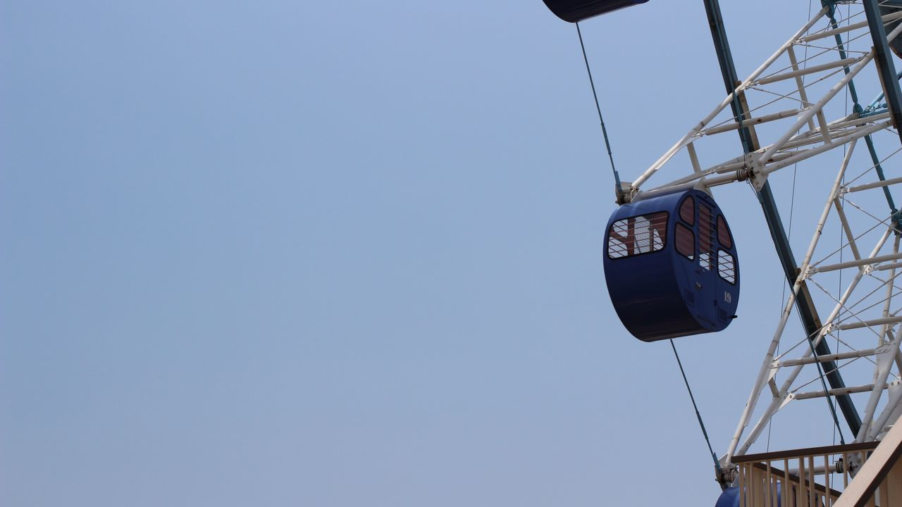 Clear Sky Blue Outdoors Sky 사진 Photo Ferris Wheel 관람차 하늘 파랑 しずおか 静岡 Shizuoka, Japan
