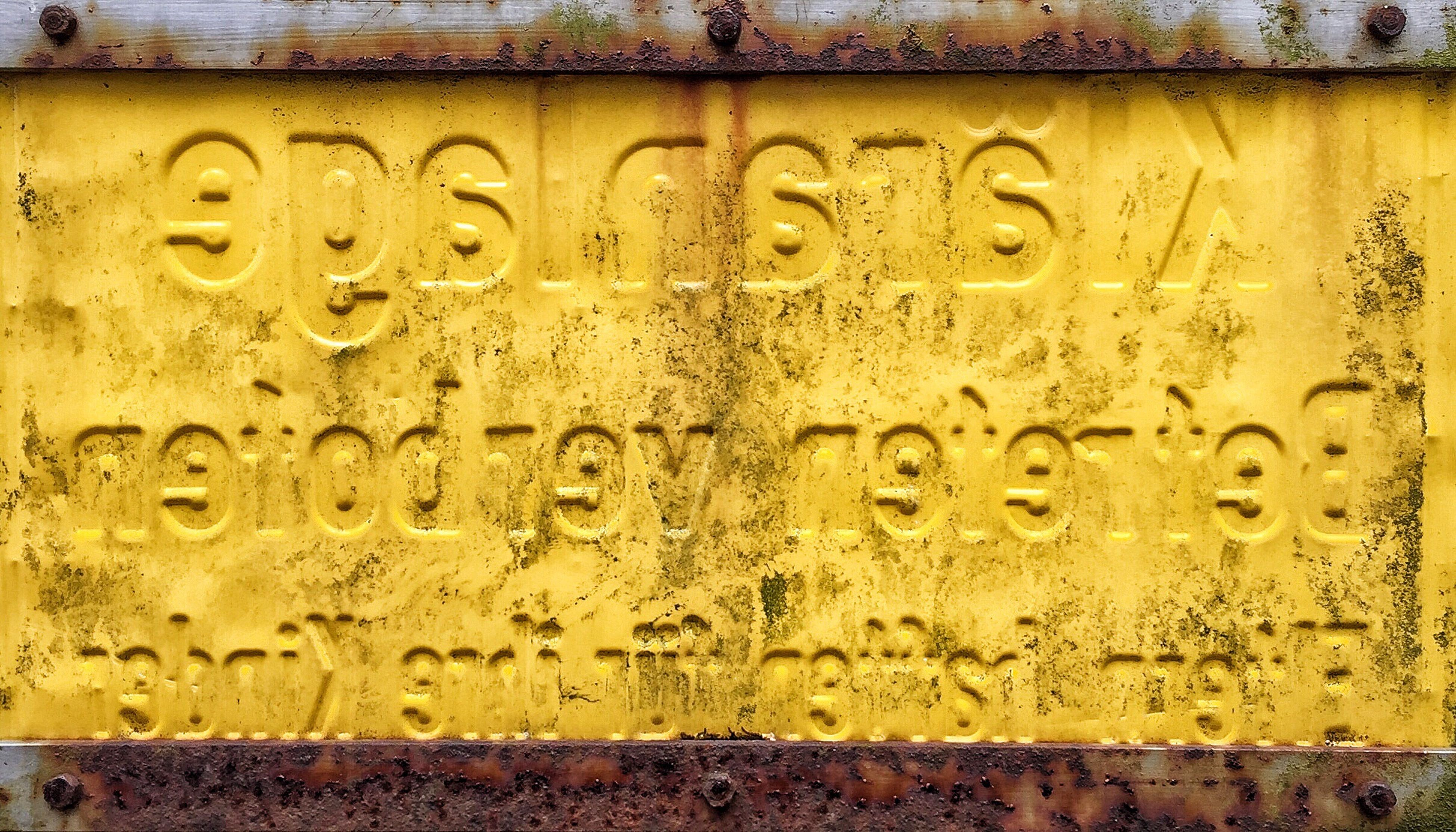 metal, yellow, no people, textured, backgrounds, close-up, communication, drop, outdoors, day