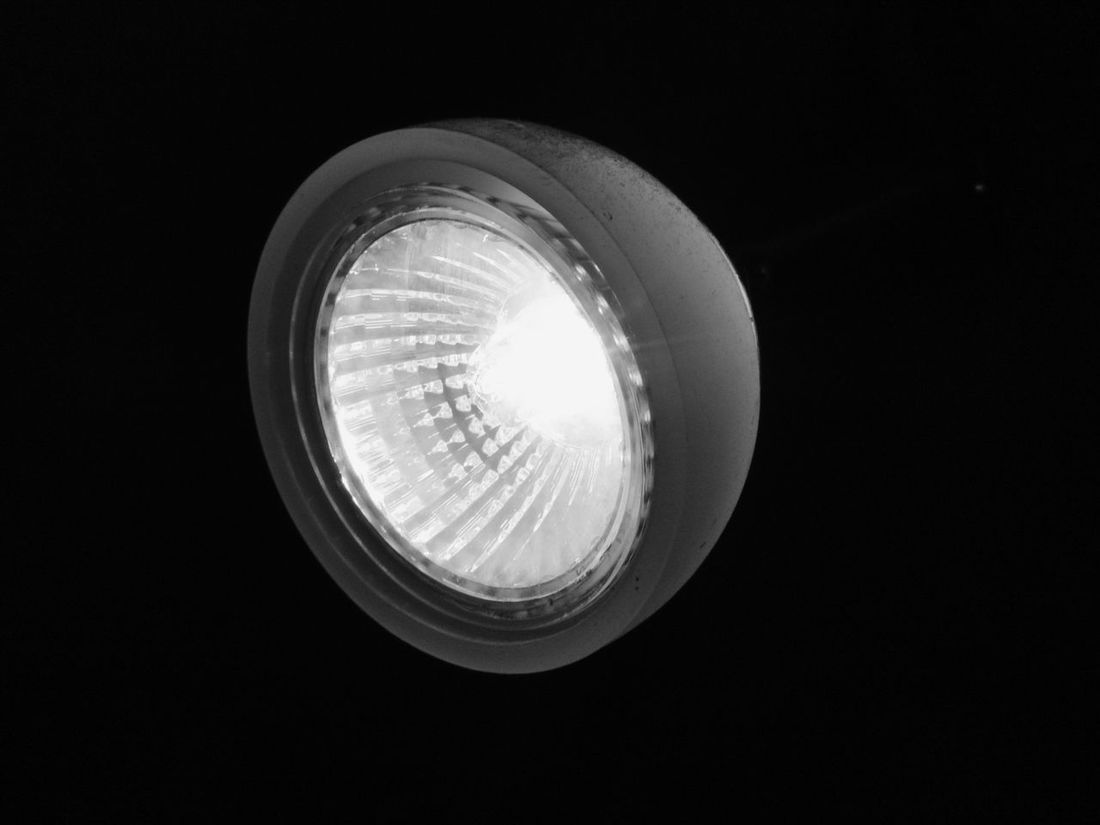 Black And White Shining Bright Light In The Dark