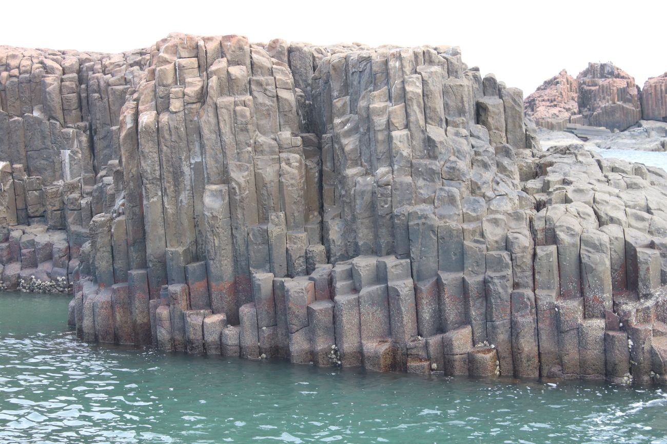 St Mary's Island India amazing geological shapes. Udipi Stmarysisland NaturallyCrafted Sea Beach
