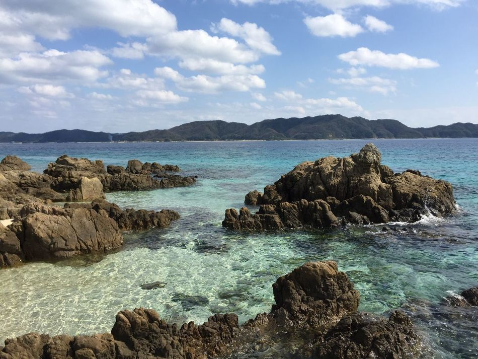 Sea Rock - Object Nature Rock Beauty In Nature Tranquility Sky Scenics Tranquil Scene Water Day No People Beach Landscape Outdoors Blue Water Blue Sea Kagoshima Amami Island