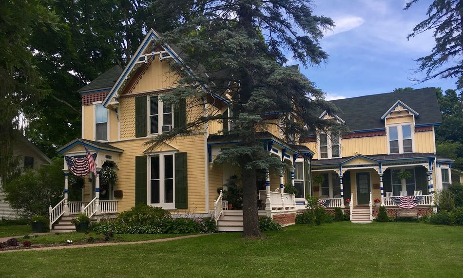 House Bed And Breakfast Historic Yellow Houses Decorative Cooperstown New York Baseball Hall Of Fame Hometown USA Small Town USA