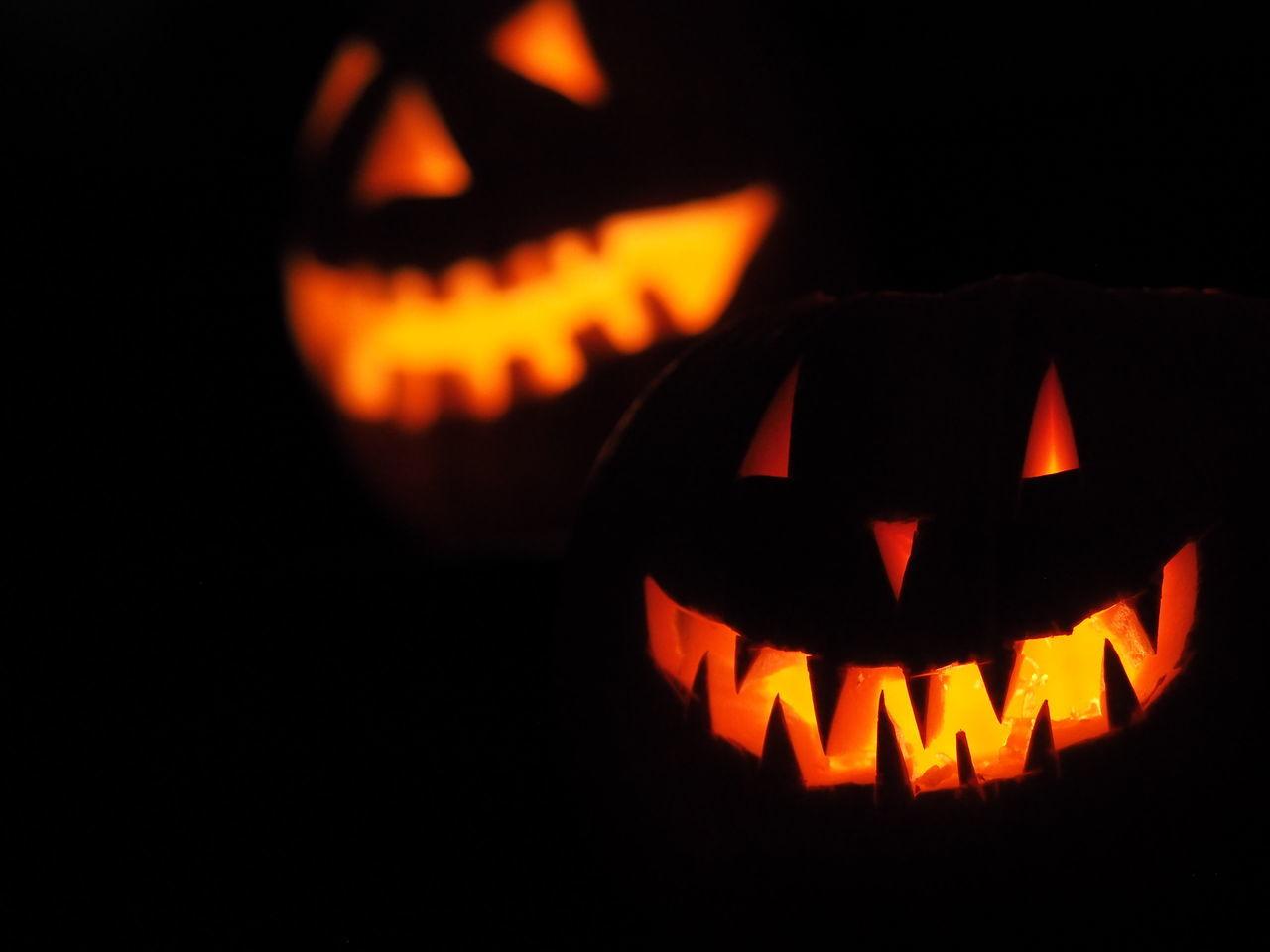 Autumn Halloween Lantern Night Pumpkin Spooky