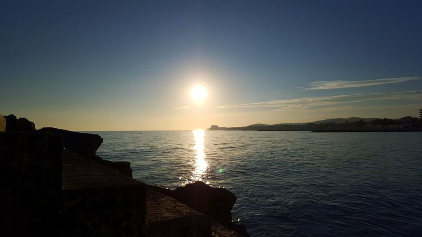 Barcelona SPAIN Layovers Sundown Sunset Mission Balearic Pier Sea Wall Mobilephotography Mobile Photography