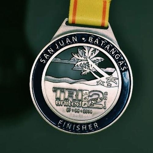 All you have to do is trust God. My first and definitely not my last triathlon medal. Triunited2 TU2 TRIATHLON Swimbikerunph firstTri epicfailrace