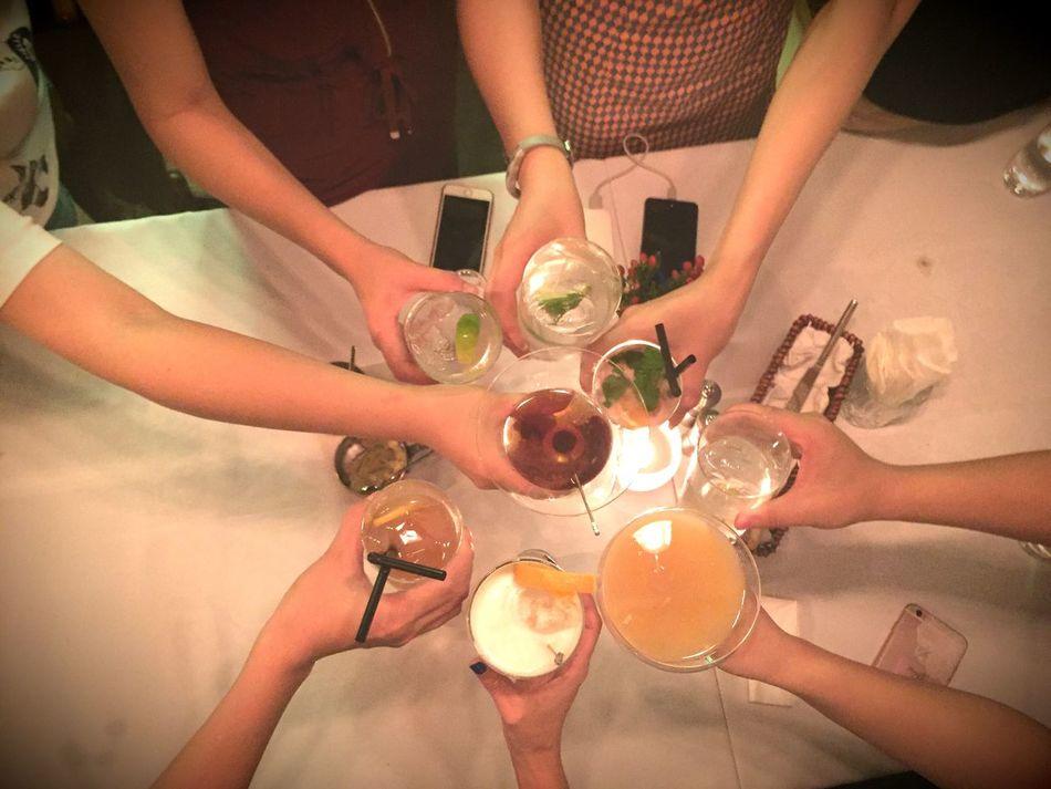 Cheers Chinchin GanBei Friendship Classmates Shanghai Xintiandi