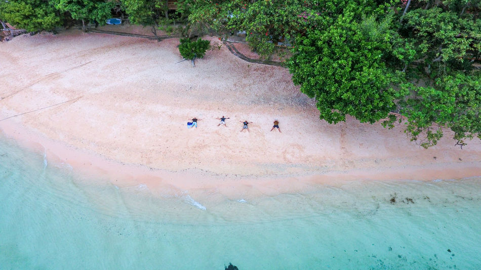 Aerial Shot Aerial View Beach Beachphotography Beauty In Nature Day Drone  High Angle View Men Nature One Person Outdoors People Real People Sand Water White Sand Beach A Bird's Eye View Flying High Islands