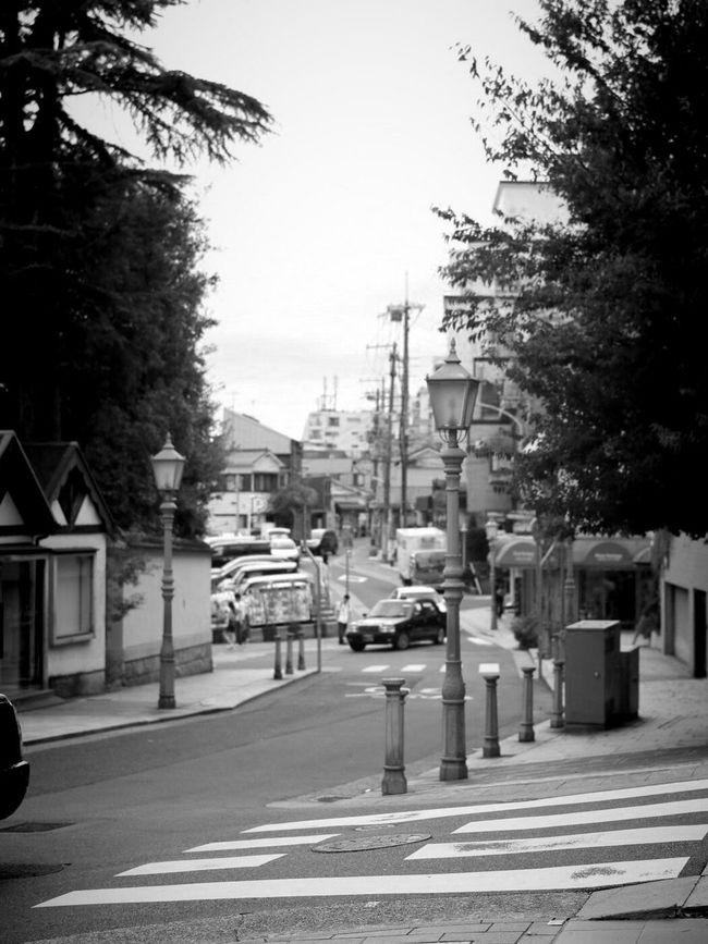 Kobe 北野坂 Street Road City Life Monochrome