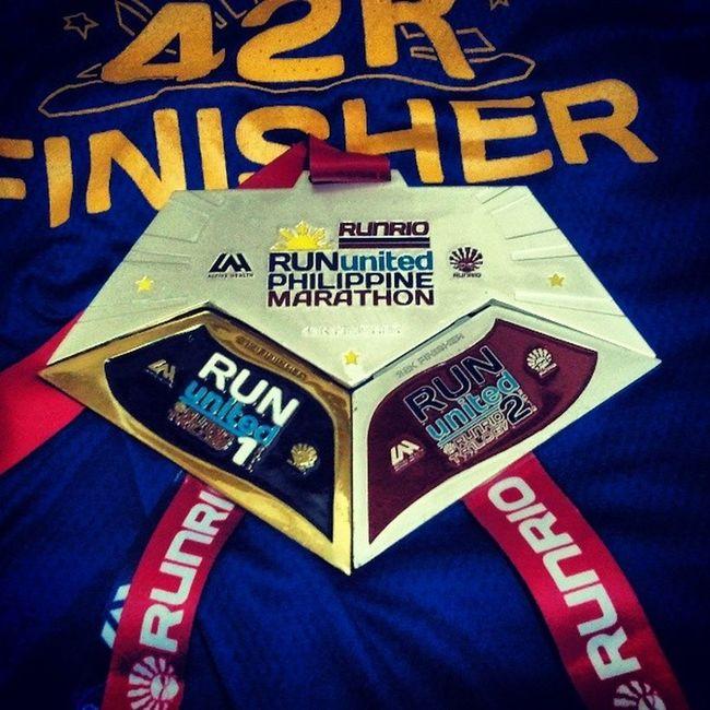 Run United trilogy medals RUPM Runrio 42km RunUnited