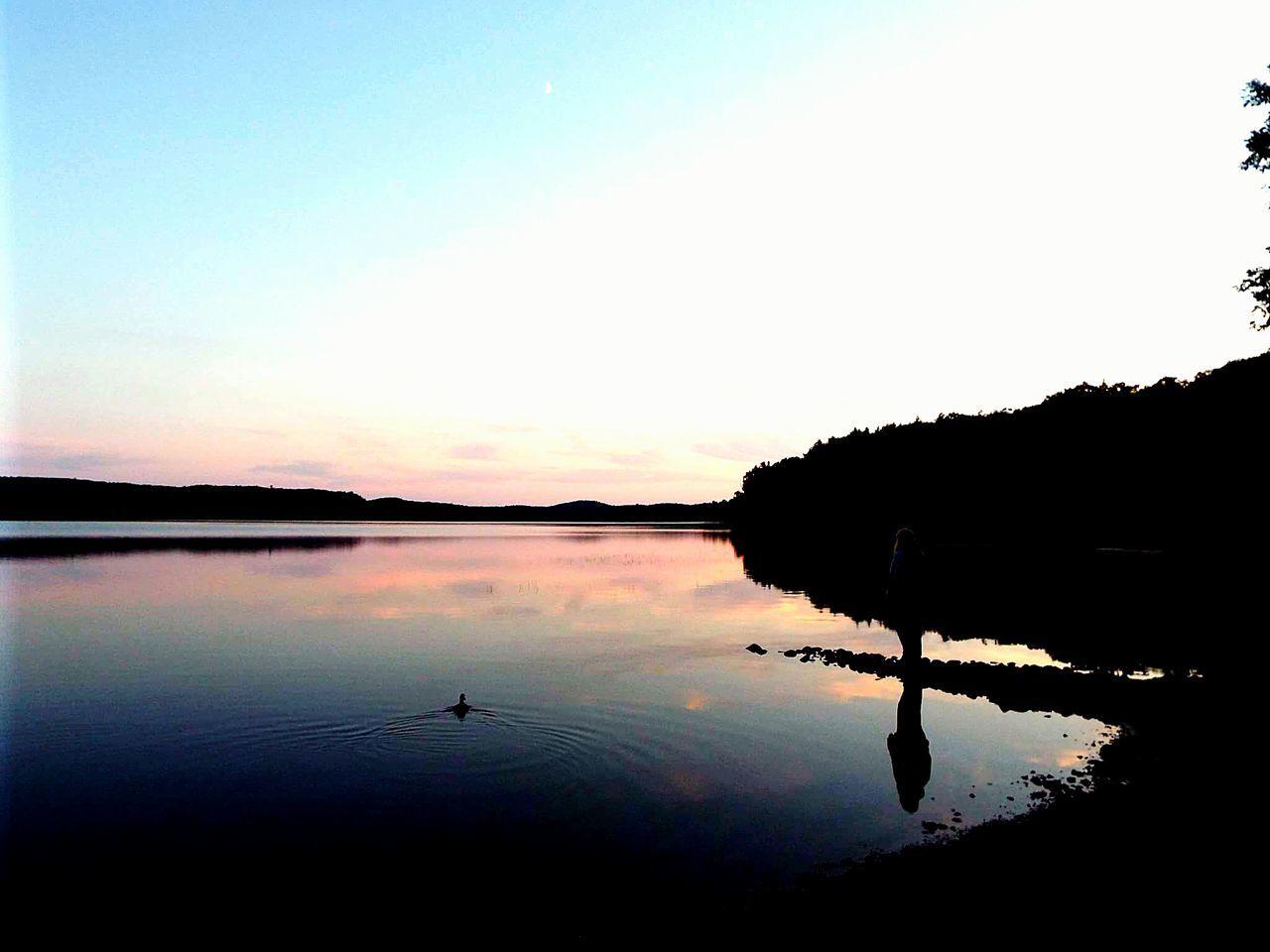 Algonquinprovincialpark Algonquin Park Sunset Sun Colour Silhouette Duck