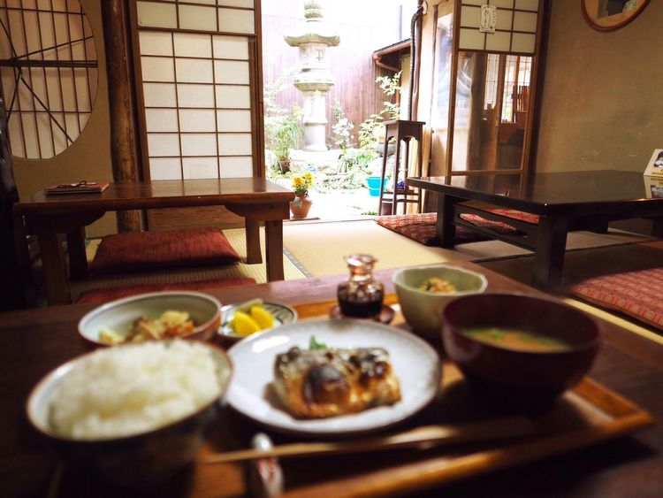 Kyoto Japan Rojiusagi Lunch Lunch Time Delicious Food Fish Mackerel Courtyard  Japanese Food Japanese Style Olympus PEN-F 京都 日本 ろじうさぎ 昼ごはん 日本食 中庭 鯖 魚