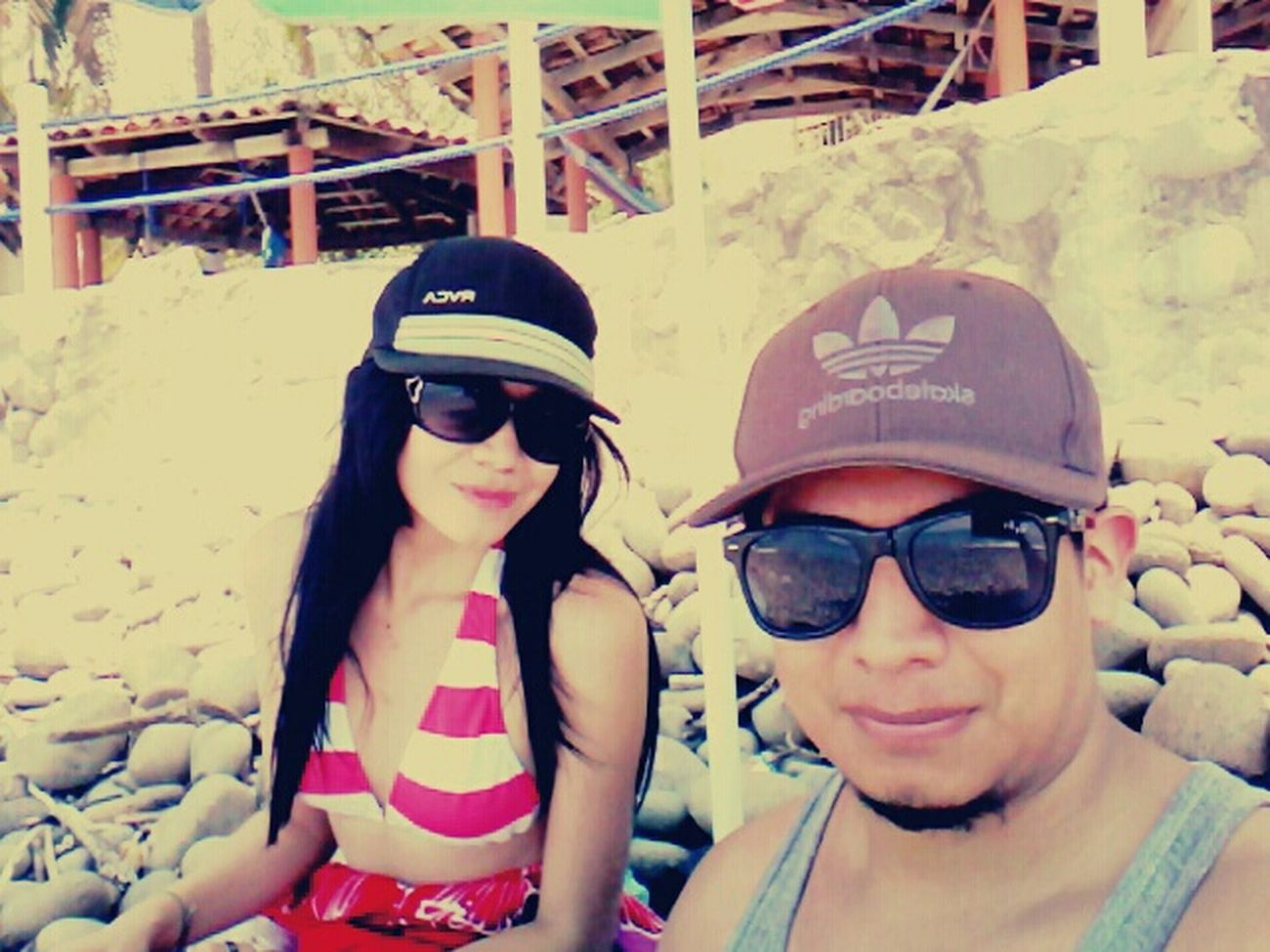 Chris&cleli Enjoying The Sun Relaxing Sunshine Beach Life Beach Day Enormemente Feli! Selfie ♥ Enjoying Life With My Love ❤