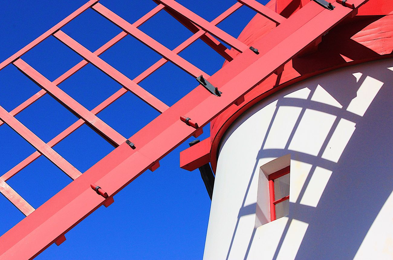 Red mill Architecture Low Angle View Azores Portugal