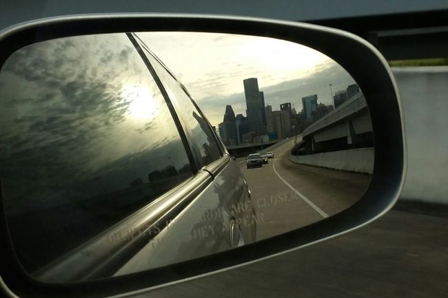 Rear view shot 5 Rearviewmirror Transportation Reflection Glass - Material Window On The Move Sky Cloud - Sky City Popular Photos EyeEm Gallery Eyemphotos Photography Houston Texas Cityscapes