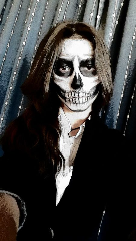 hope you all guys have an amazing halloween tomorrow!! :)))/// are you gonna be able to draw this? ;) Halloween That's Me Skullmakeup Halloween Horrors