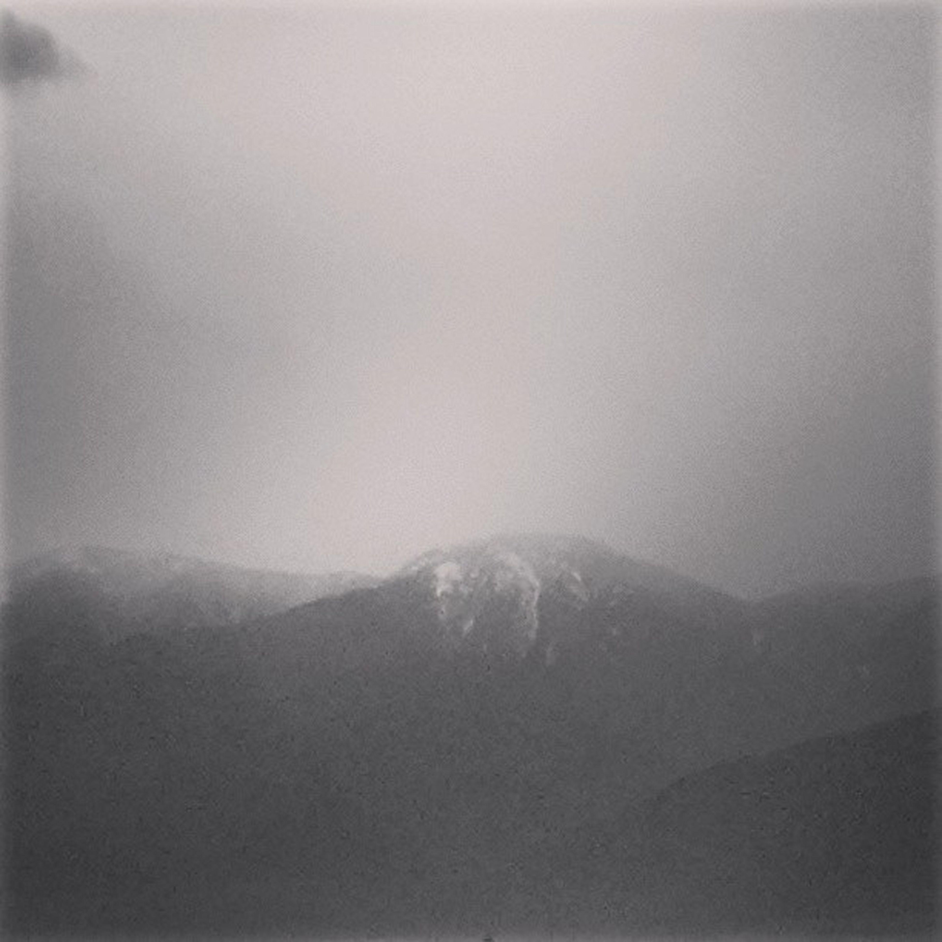 fog, weather, winter, cold temperature, mountain, scenics, foggy, tranquil scene, tranquility, snow, beauty in nature, copy space, nature, season, sky, covering, idyllic, non-urban scene, landscape