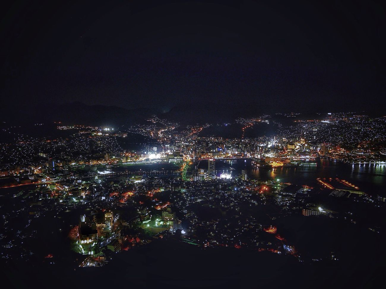 Nagasaki Cityscapes View from Inasayama Observatory ( Sealevel 333 meter ) Landscape Nightphotography Sea And Sky Night Lights yesterday's Night