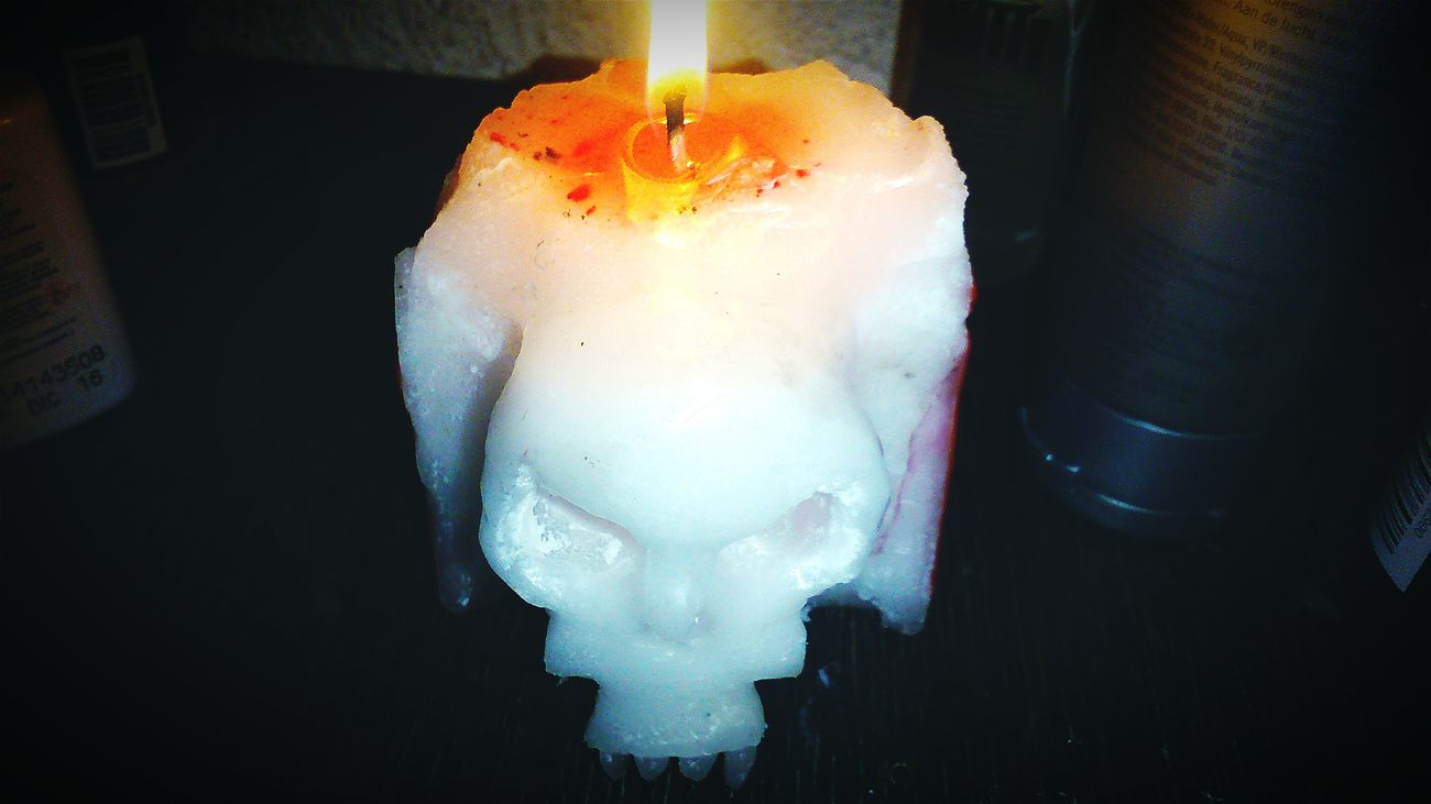 My Sculpture Candle Candlelight Candle Light Skull Skull Candle Fire Candle Night Sculpture Sculpting Vela Fuego