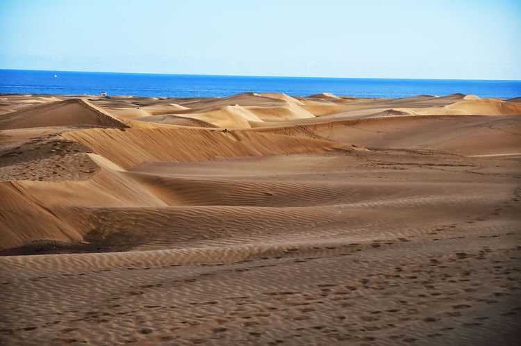 Dunas Gran Canaria Maspalomas Playa Del Ingles Arid Climate Beauty In Nature Day Desert Landscape Nature No People Outdoors Sand Sand Dune Scenics Sky