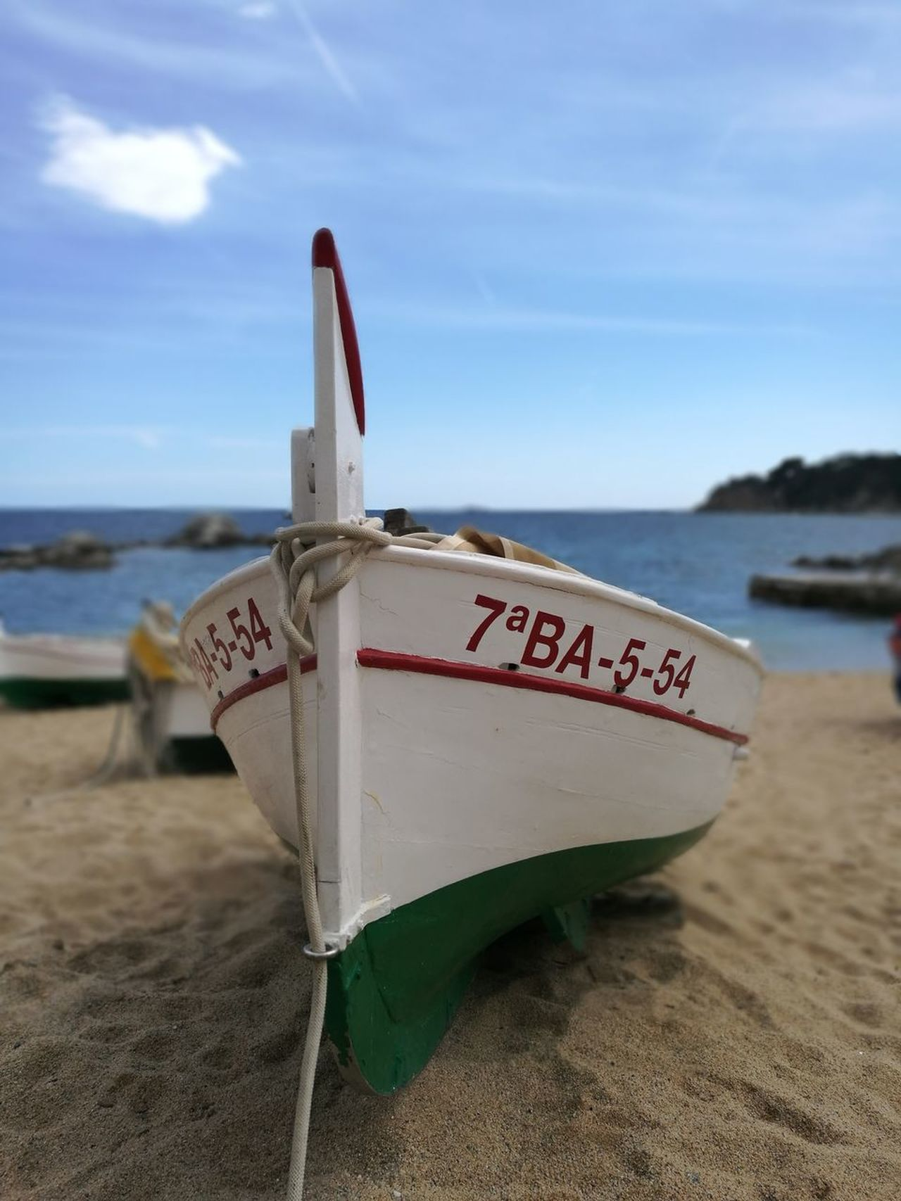 Beach Sand Sea Water Horizon Over Water Day Outdoors Nautical Vessel Lifeguard  Sky Nature Nautique Barque Catalane barque