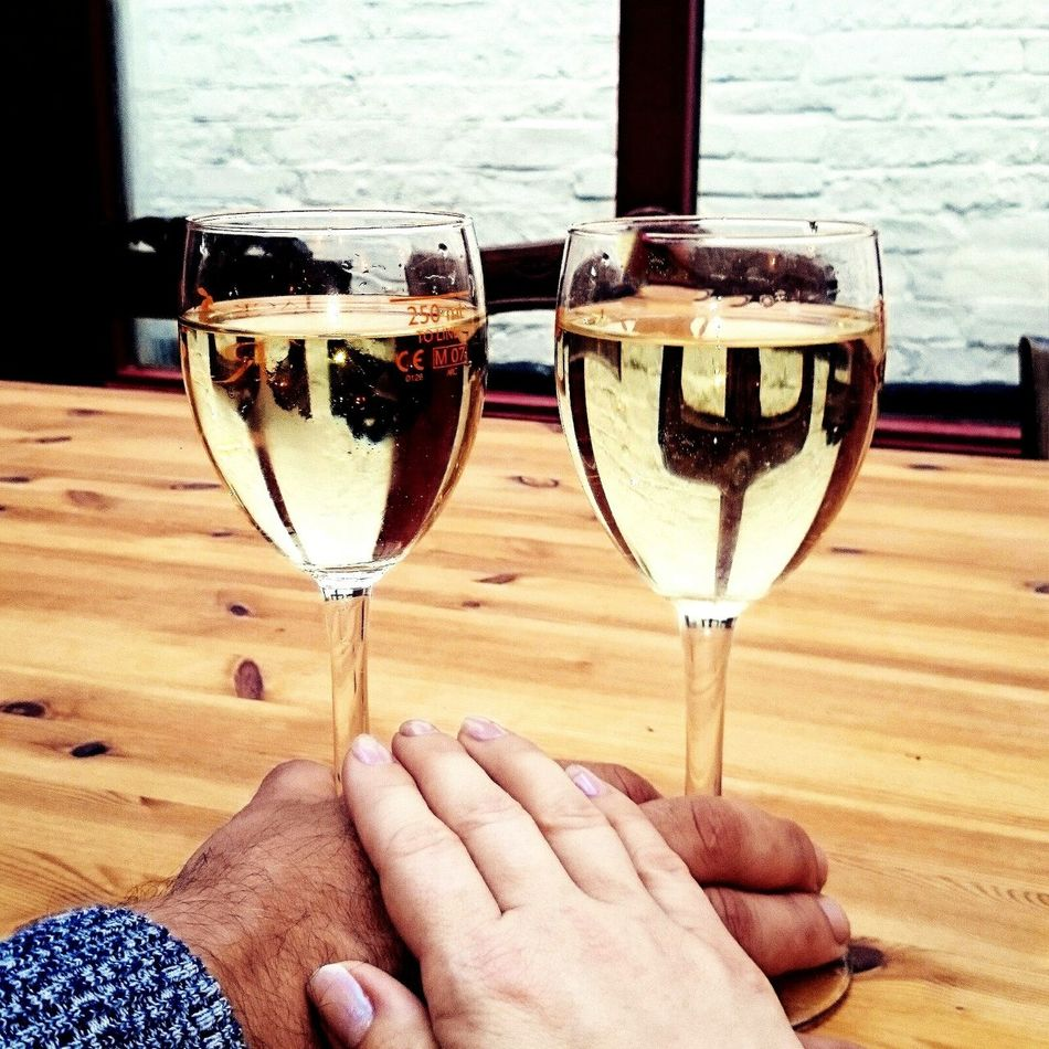 Hanging Out Check This Out Date Date Night Couple Couples Shoot Couple In Love Couplephotography Love Enjoying Life Color Of Life Two Is Better Than One Symbol Enjoy The New Normal Wine Moments Alkohol Celebration Hands Body Part