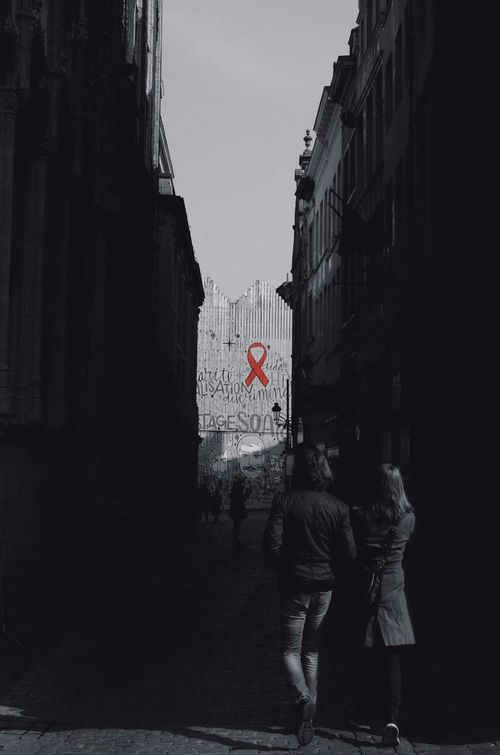 AWARENESS. (Brussels, Belgium) www.idjphotography.com/prints Awareness Streetphotography Street Streetart Brussels Belgium Europe Travel Aids Hiv
