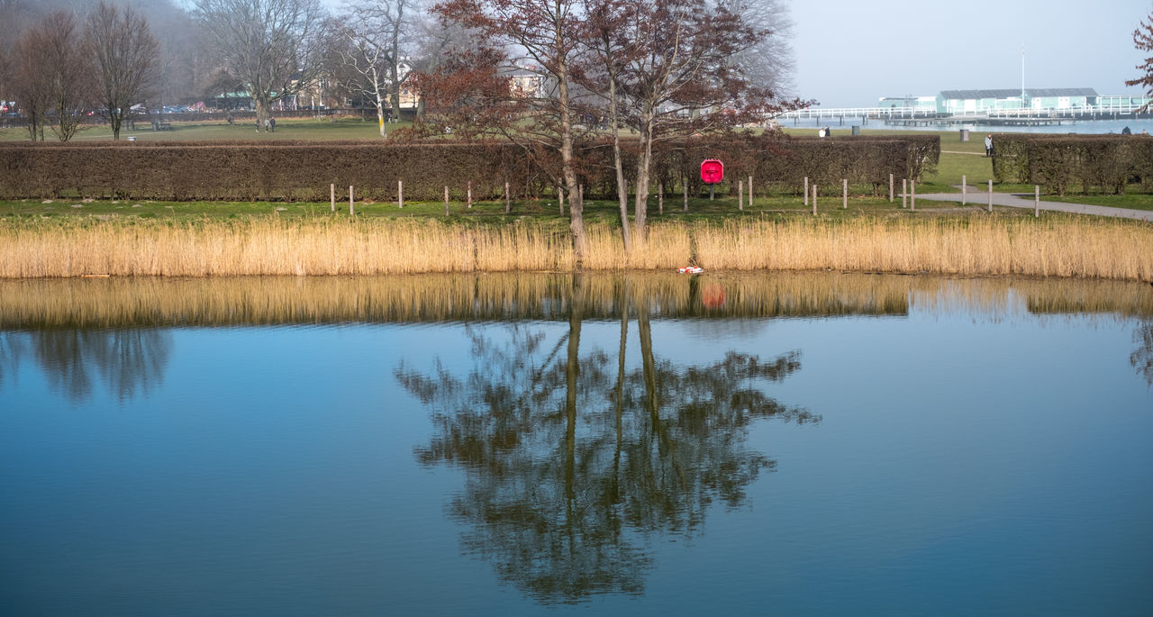 Architecture Beauty In Nature Building Exterior Copy Space Day Flood Grass Lake Landscape Landscape_Collection Nature No People No People, Outdoor Outdoors Reflection Reflection Reflection_collection Sky Tree Water Water Reflections Waterfront
