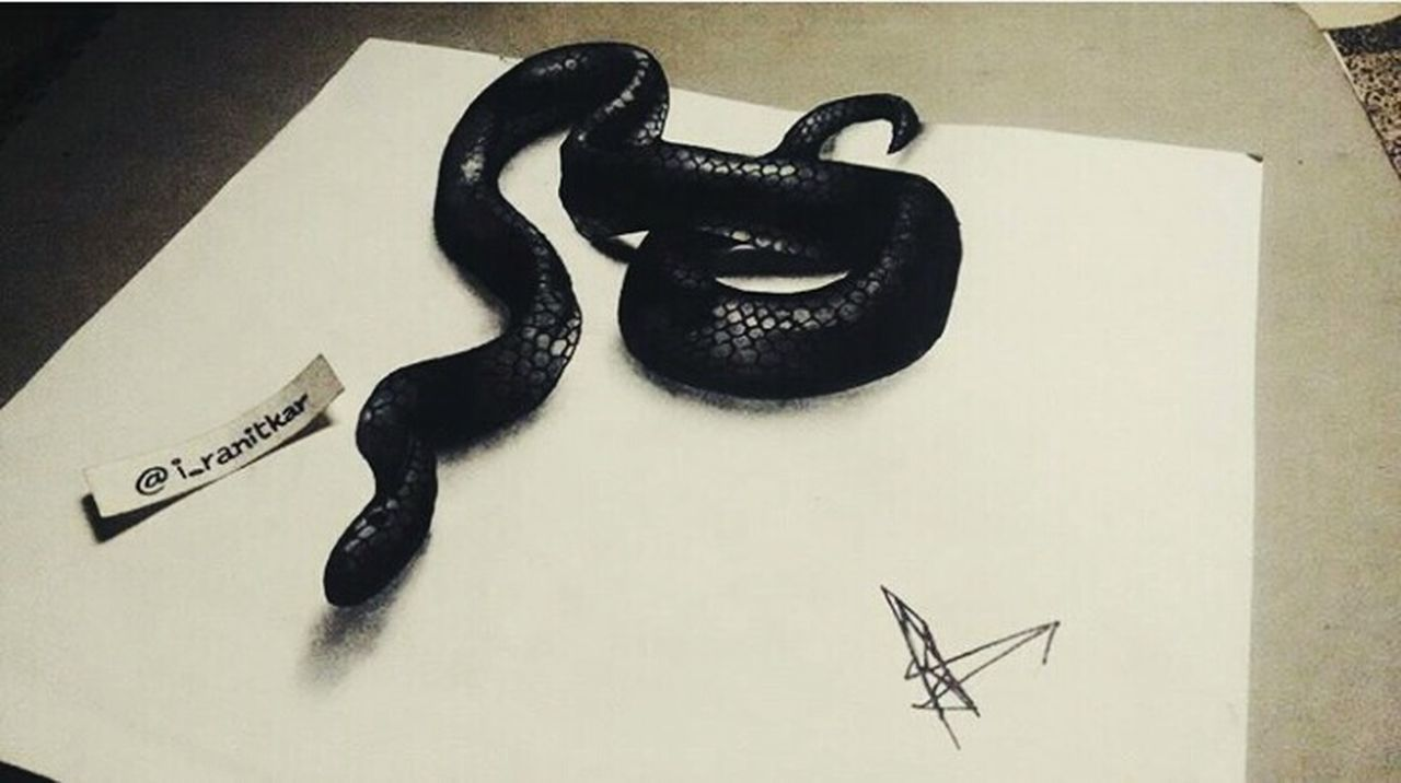 """ Realistic 3D art of snake. "" Sketch Art Close-up 3D Art Snake Quicksketch ArtWork Artistic Art, Drawing, Creativity Blackandwhite First Eyeem Photo Mobography Sketchoftheday  Sketching SketchUp Artsy Artistic Photo Instalike"
