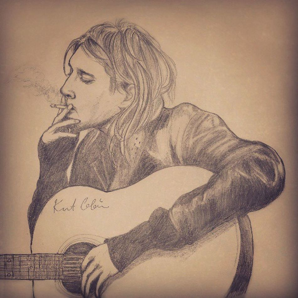 Kurt Donald Cobain by Sharp Pencil HB 0.5mm. Art Illustration Rock Nirvana Kurtcobain Pencilillustration