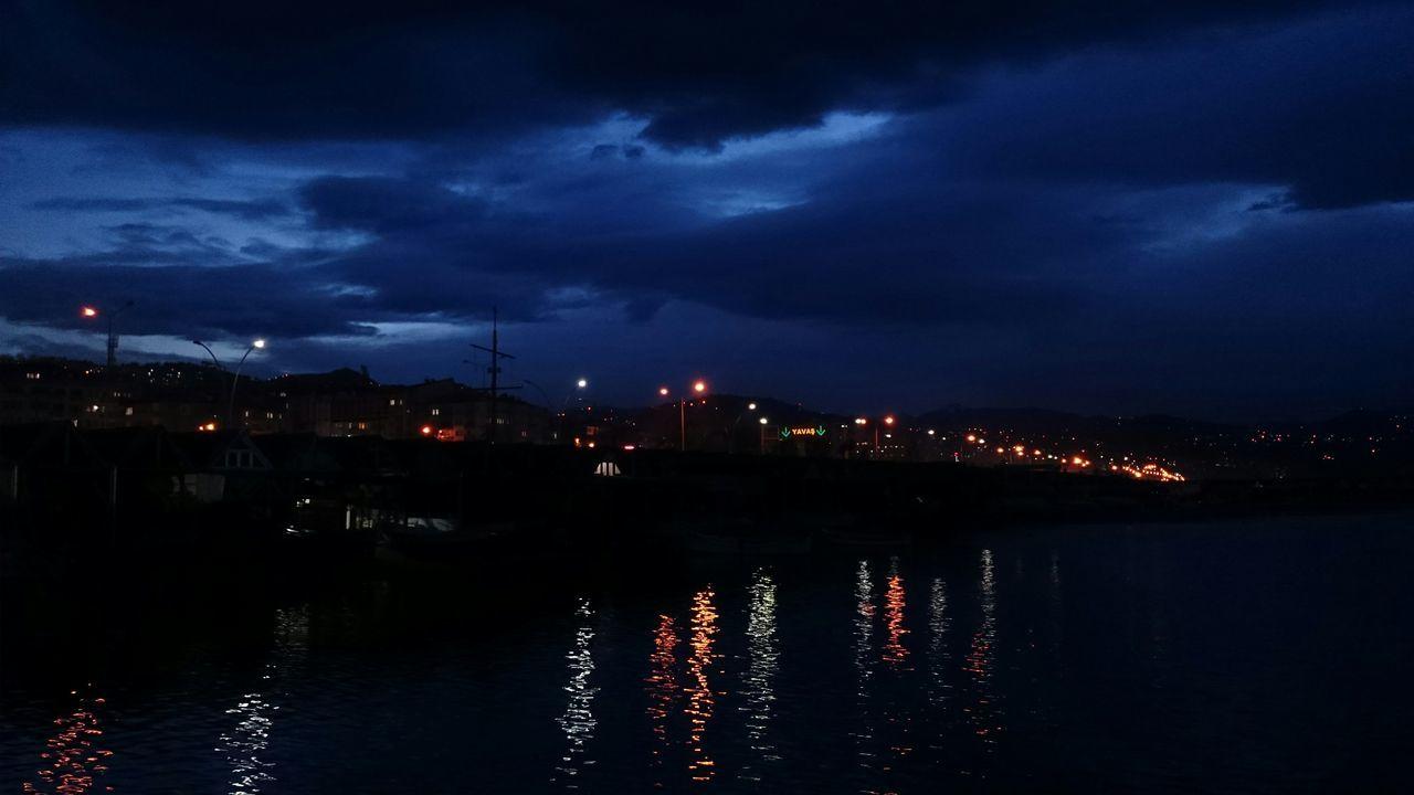 Night in Trabzon.. Night Nightphotography Night Lights Sea Seaside Sea And Sky City Lights Phosphorescence Taking Photos Eye4photography