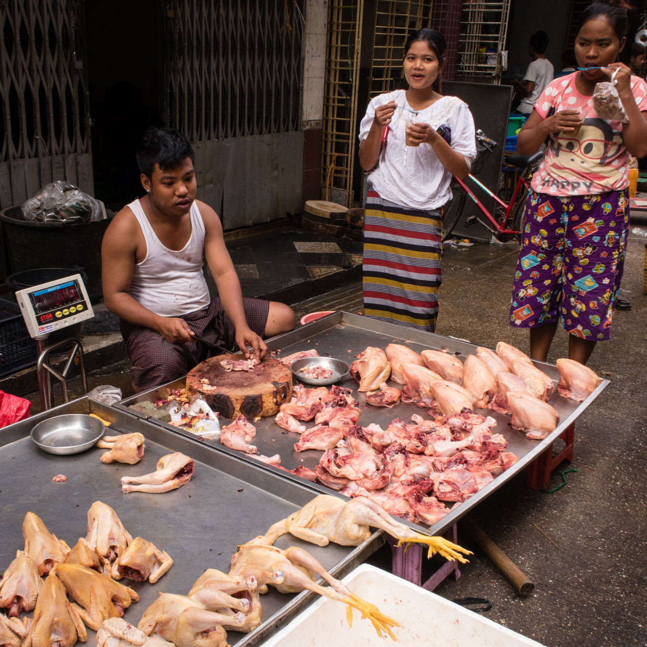 Burma Business Chicken City Life Commerce Day Food Freshness Market Meat Myanmar Outdoors Poultry Raw Shopping Street Market Street Photography Urban Variation Yangon