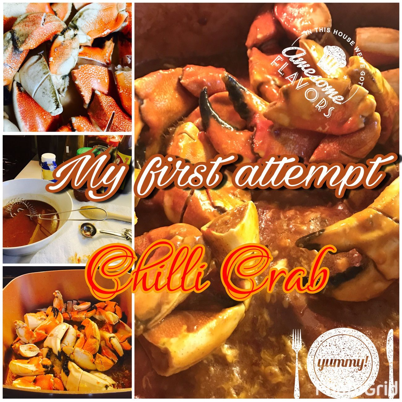 I lived in Singapore for nearly 8 years. I am Missing the Chili  crab which is a Food Delicacies Food And Drink This my First Attempt to Cooking At Home . Streamzoofamily Temptation No People Indulgence Indoors  Close-up I'm currently living in America Photo editor apps used Photogrid Mobile Photo