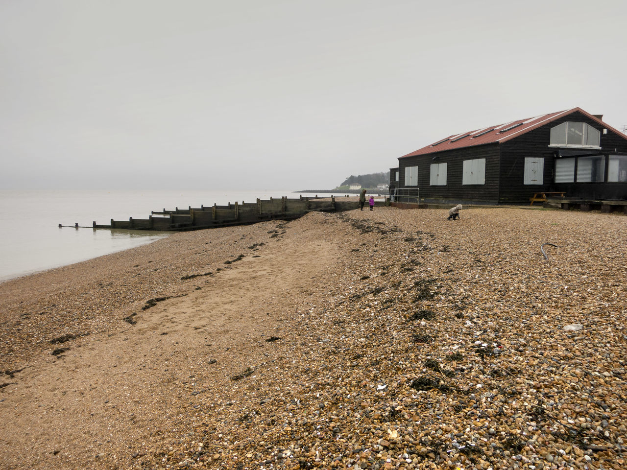 Beach Beautiful Harbour Jetty Ocean Overcast Pier Sand Sea Seascape Seaside Shore Vacations Water Whitstable Landscapes With WhiteWall