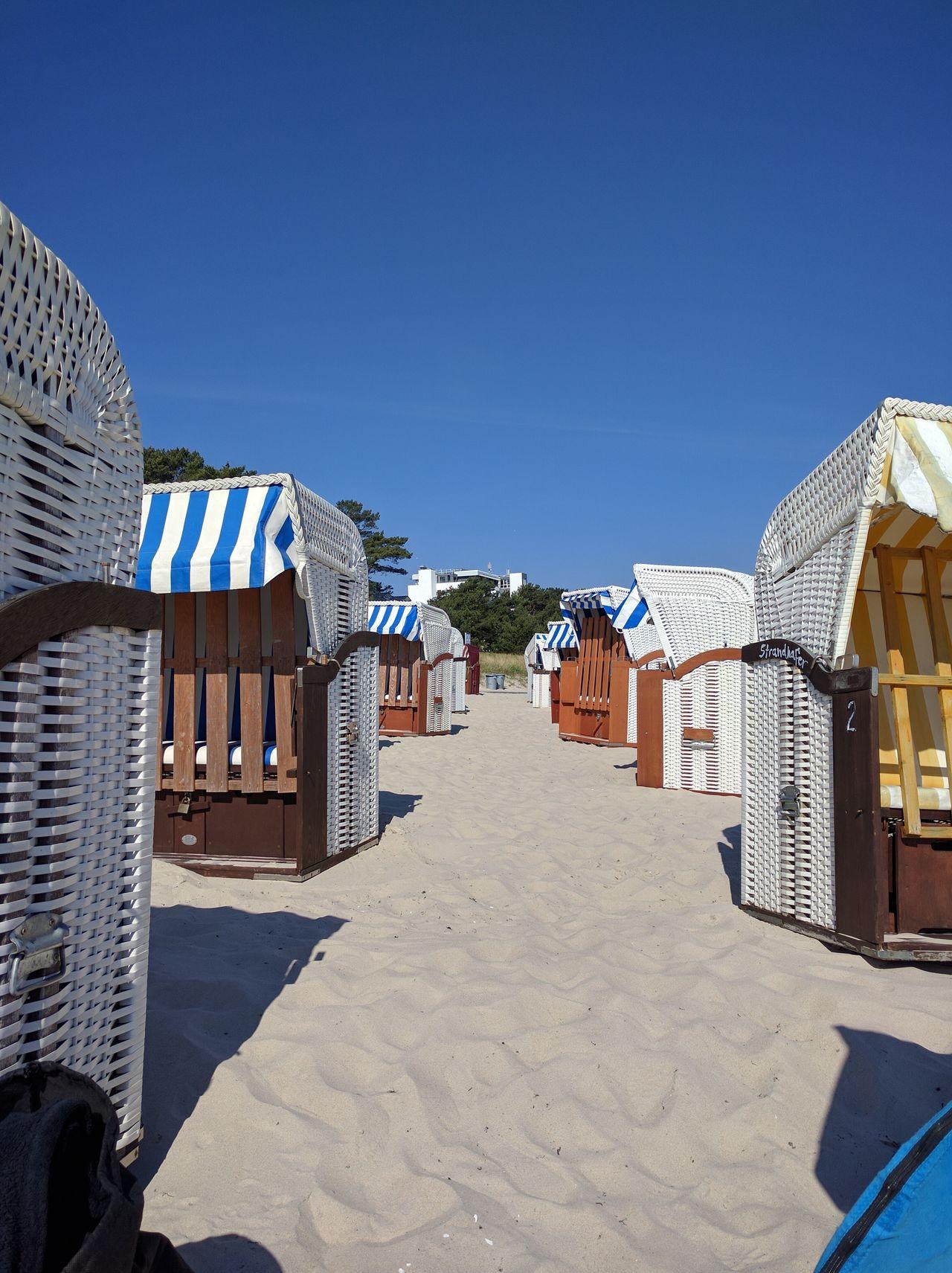 Baltic Sea Beach Photography Blue Sky Ostseebad Binz Ostseestrand Outdoors Sky Strandkorb Sunny