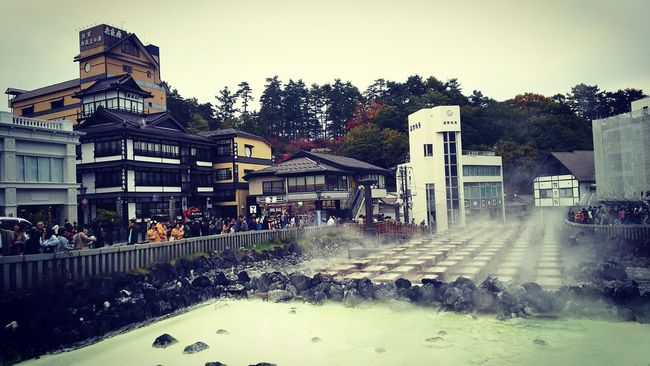 Japan Onsen Kusatsu Onsen Yubatake Hotspring Traditional Japanese Culture