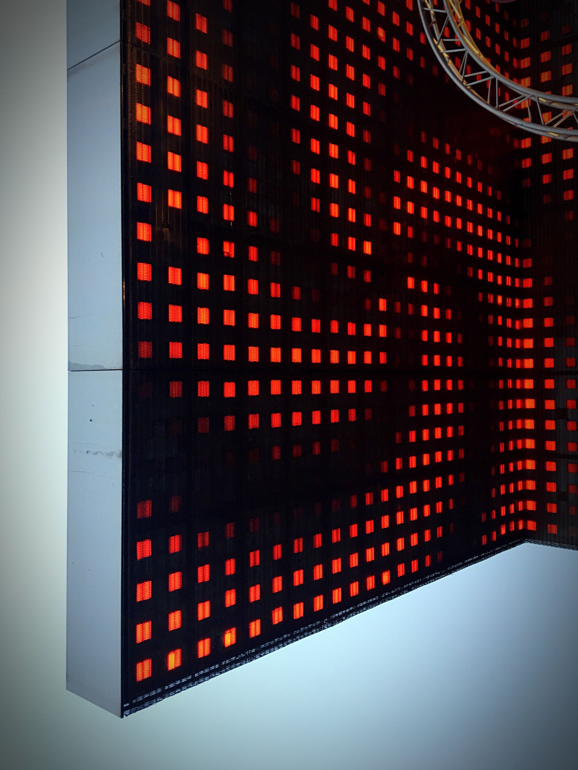 technology, pattern, red, indoors, close-up, no people, illuminated, day