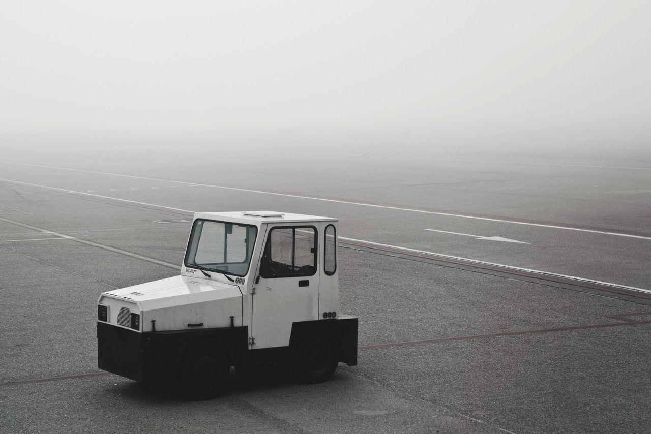 Beautiful stock photos of truck, Airport, Asphalt, Day, Fog